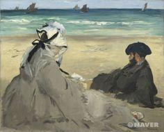 해변에서 (Sur la plage)  에두아르 마네(Edouard Manet)