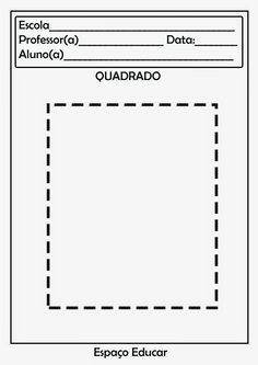 ESPAÇO EDUCAR: *Educação Infantil Petite Section, Cutting Activities, Professor, Worksheets, Homeschool, Clip Art, Math, Gabriel, Shapes