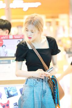 Rose Blackpink New Wallpap Collection Blackpink Fashion, Daily Fashion, Korean Fashion, Fashion Outfits, Kim Jennie, Kpop Outfits, Cute Outfits, Black Pink, Rose Park