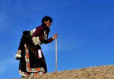 a Tibetan pilgrim woman