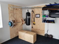 Functional Corner Home Gym - Wolfgang Schöndorf - Functional Corner Home Gym I was after another home gym, but I didn't want another big metal cage rusting outside or taking up valuable space inside. I wanted something more minimal that. Home Made Gym, Diy Home Gym, Home Gym Decor, Gym Room At Home, Best Home Gym, Home Gym Garage, Basement Gym, Garage Room, Backyard Gym