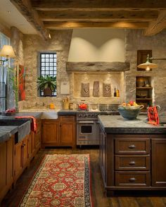 Who wouldn't want to cook and entertain in this kitchen?  It's the perfect kitchen to enjoy with company!