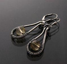 Sylvia White - Galadryl Schmuckdesign auf KUSELVER, Handgefertigte Elegante Sterling Silber Rutilquarz Ohrringe
