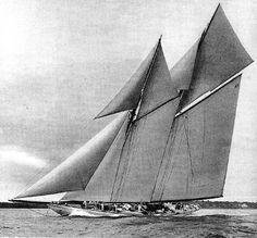 "One of the Max Oertz-designed schooners,  ""Germania"""