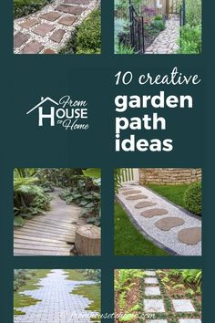 These garden path ideas are awesome! I found some great inspiration for the new gravel walkway with stepping stones I want to install in my front yard. But there's also great ideas for brick, wooden, mulch, grass, stone and flagstone paths and walkways that will fit in any garden design. #fromhousetohome #gardenpaths #pathsandwalkways #walkways #diyprojects #gardendesign Stone Garden Paths, Brick Garden, Gravel Garden, Garden Stones, Landscaping With Rocks, Landscaping Tips, Unique Gardens, Beautiful Gardens, Flagstone Walkway