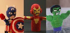 Free #Crochet Avengers Patterns :: Avengers Finger Puppets