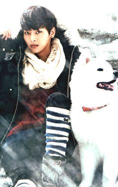 VIXX N and a dog!!! <3 <3