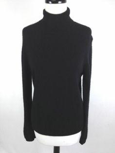 Apt 9 Sweater Cashmere Knit Black Long Sleeve Luxury Turtleneck Layers Womens L | eBay