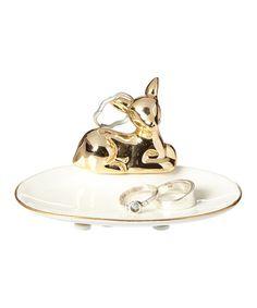 Gold Fawn Ring Holder #zulily #zulilyfinds