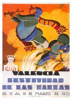 Cartel Fallas Valencia 1933