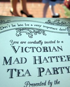 Victorian Mad Hatter party