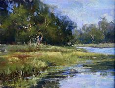 Manchester by the Sea Marsh by Jacob Aguiar Pastel ~ 9 x 12 Chalk Pastel Art, Soft Pastel Art, Pastel Artwork, Chalk Pastels, Pastel Paintings, Pastel Landscape, Landscape Art, Landscape Paintings, Disney World Princess