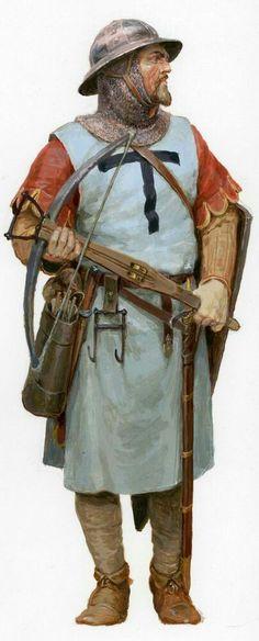 Кнехт арбалетчик из состава тевтонского войска 1242