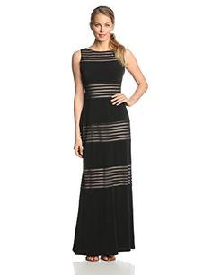 London Times Women's Mesh Stripe Maxi Dress, Black/Nude, 12 London Times http://www.amazon.com/dp/B00MJHG2KE/ref=cm_sw_r_pi_dp_M18Hwb13C0N0C