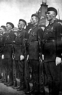 Red Army in the Red Square. Sometime in the thirties.