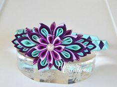 Cinta púrpura kanzashi venda de la muchacha por MagaroCreations