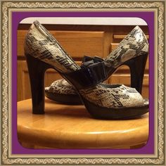 Cute Stylish Animal Print Heels!! ✨I LOVE these shoes! Just a little higher than I like :( about 4 inches). They need a new home. I know that you can rock them!Except for a few nicks here and there these are in very good condition!✨price firm Madden Girl Shoes Heels