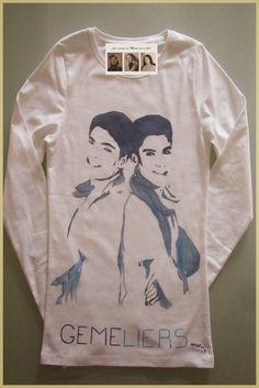 Camiseta personalizada y hecha a mano Gemeliers