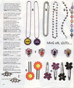 Because you always needed new hairclips to pin back that middle part. 17 Reasons Why The Fall Delia's Catalog Was Everything To You 2000s Fashion, Fashion Outfits, Fashion Tips, Bottle Cap Necklace, Pendant Necklace, Fashion Catalogue, Ball Chain, Autumn Fashion, Vintage Fashion