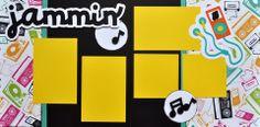 Jammin' - 12x12 Scrapbook Page Kit