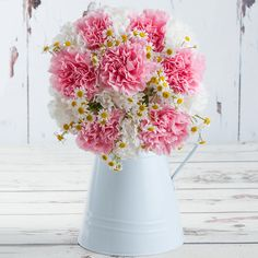 Candyfloss Carnations Valentines Flowers, Valentines Day, Candyfloss, Flowers Delivered, Carnations, Red Roses, Glass Vase, Bouquet, Make It Yourself