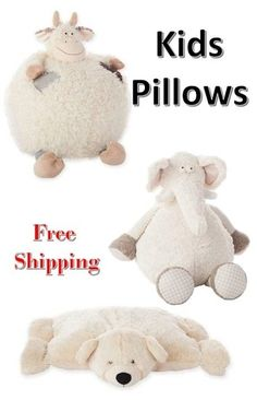 Bedroom Kids Pillow Decor_ Free Shipping_Decorative Pillows _ Throw Pillow_ Cow Pillow _ Elephant Pillow_ Bear Pillow_Animal Pillow #shopthelook #MyShopStyle #BirthdayParty #WeekendLook #FunPillow #Gift #ad