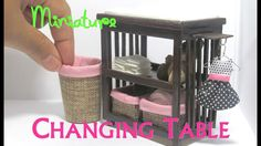 DIY Changing Table and Baskets Dollhouse Furniture Miniature Furniture B...