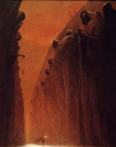 A arte obscura, solitária, morbida, demoníaca,… de Zdzisław Beksiński Dark Fantasy Art, Dark Art, Arte Horror, Horror Art, Arte Sci Fi, Sci Fi Art, Art Sinistre, Art Science Fiction, Sci Fi Kunst