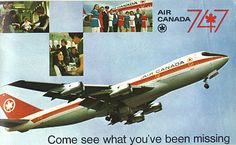 Airlines Past & Present: Air Canada Boeing 747 Introduction Early & Vinta. Airlines Past & Present: Air Canada Boeing 747 Introduction Early & Vintage Air Canada Ste American Airlines Flight Attendant, Canadian Airlines, Jumbo Jet, Vintage Travel Posters, Vintage Airline, Boeing 747, Aviation, Canada, Airplanes