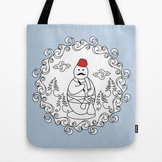 OttoSnowMan Tote Bag by creaziz - $22.00