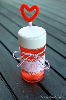 Domestic Charm: Homemade Bubble Valentine