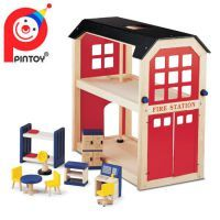 PINTOY Fire Station Fire Station & Accessories $119.90 www.mamadoo.com.au #mamadoo #woodentoys