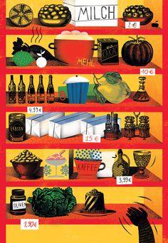 GOOD / Nestle Magazine / 2013 by Agata DUDU Dudek, via Behance Cool Magazine, Kakao, Illustrators, Art Drawings, Behance, Texture, Posters, Graphics, Beautiful