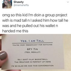 """My 6'4"""" brother should do this"""