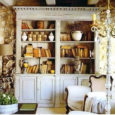 French country bookshelf