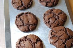 Chocolate Spice Cookies Recipe.  I rolled mine in sugar!
