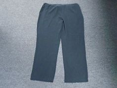 80.05$  Buy here - http://vivvu.justgood.pw/vig/item.php?t=ig4sf527848 - EILEEN FISHER WOMAN Black Silk Sheer Flat Front Dress Pants Size 18W CC3934 80.05$