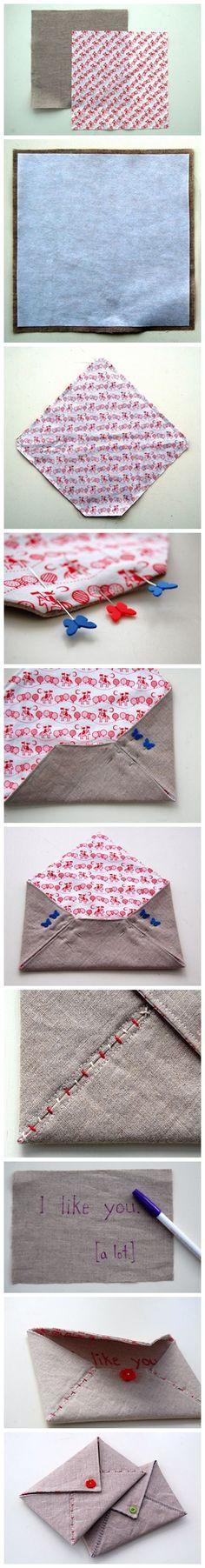给喜欢的人做个信封包吧http://www.douban.com/photos/photo/1120355104/  Fabriquer une enveloppe