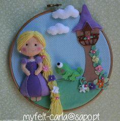 Princesa Rapunzel, Bebé Guirnalda, Aro de Arte Bebé, Decoración Pared, Cuarto Niños, Hecho Mano, Chica Decor, Móvil Cuna Bebé, Bebé Ducha