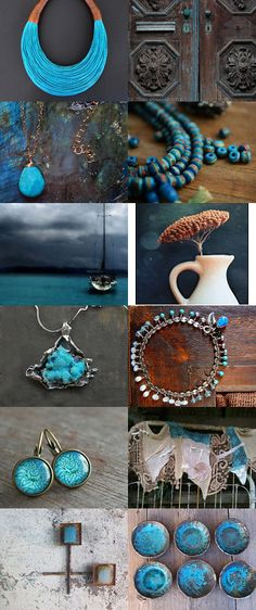 Lumos:  All Turquoise, All The Time by barbara burke on Etsy--Pinned with TreasuryPin.com