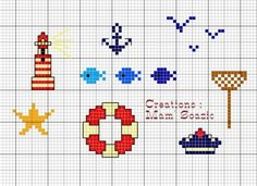 Marine cross stitch mini