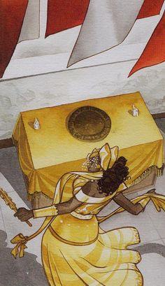 Queen of Coins - Afro-Brazilian Tarot by Giuceppe Palumbo African Mythology, World Mythology, Orisha, Oshun Goddess, Tarot Horoscope, Oracle Cards, Gods And Goddesses, Tarot Decks, Archetypes