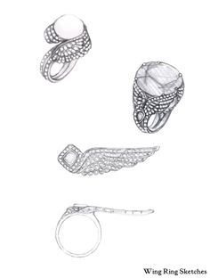 Wing Ring Extensions sketches
