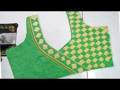 Latest Blouse Back Neck Designs - FashionShala Blouse Back Neck Designs, Patch Work Blouse Designs, Simple Blouse Designs, Stylish Blouse Design, Bridal Blouse Designs, Sari Blouse, Traditional Blouse Designs, Embroidery Designs, Blouse Models