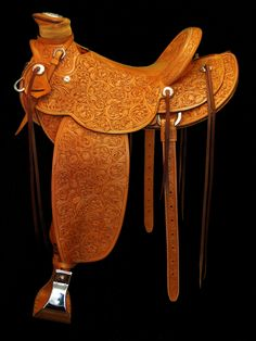 Floral Carved Wade | Cary Schwarz Custom Saddles