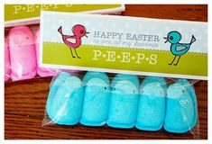 Peeps-Treat-Bag-Toppers & other cute ways to package gifts