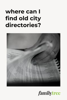 Our expert genealogy librarian shares six free places where you should look for the city directory you need for your research. Marriage Records, Birth Records, City Of Columbus, Nassau County, Types Of Books, Genealogy Research, You Lied, My Heritage, Old City