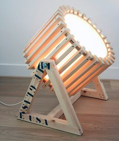 Wood Projector Lamp #Wood #WoodLamp #FloorLamp @idlights