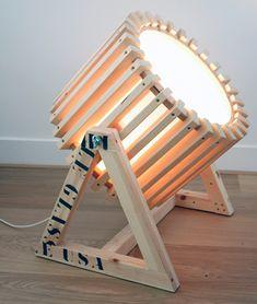 Wood Projector Lamp #Wood #WoodLamp #FloorLamp @idlights