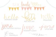 LULABELLE: Six Lovely FREE fonts!  ~~ {w/ easy download links}